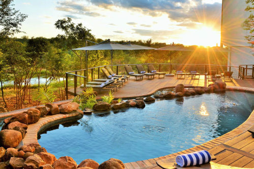 New swimming pool at Victoria Falls Safari Club